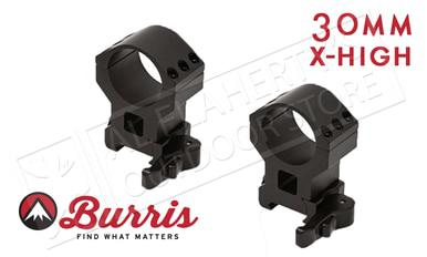 Burris XTR Xtreme Tactical Scope Rings, Quick Detach, Extra High, 30mm #420159?>