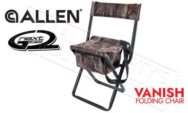 Allen Vanish Folding Stool with Back in Next G2 Camo #5854?>
