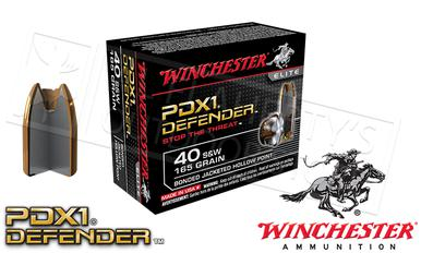 Winchester .40S&W PDX1 Defender, Bonded JHP 165 Grain Box of 20 #S40SWPDB?>