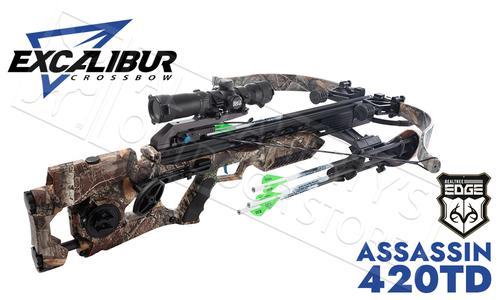 Excalibur Assassin 420 Crossbow with Charger Cranking System Assassin Realtree Edge  #E73608?>