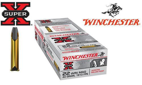 Winchester Super-X, .22 Win Mag, 40 Grain JHP Box of 50 #X22MH?>