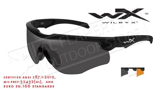 Wiley X Rogue Shooting Glasses Combo with Rust Smoke and Clear Lenses and Matte Black Frame #2852?>