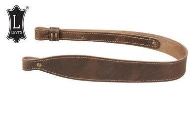 "Levy's Leathers Distressed Leather Cobra Rifle Sling, 28"" - 37"" Dark Brown #SS21D-DBR?>"