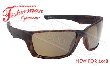 Fisherman Eyewear Hook Polarized Glasses, Tortoise Frame with Brown Lens #50603202?>