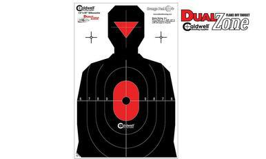 "Caldwell Silhouette Dual Zone Target, 12"" x 18"" Pack of 8 #308214?>"