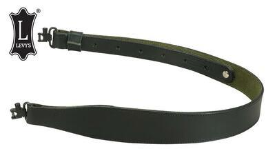 Levy's Leathers Cobra Rifle Sling with Swivels & Green Suede Backing #SN85-BLK?>