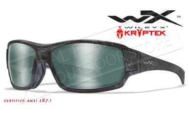 Wiley X Breach Safety Sunglasses with Captivate Polarized Platinum Flash Lenses and Krpytek Typhon Frame #CCBRH12?>