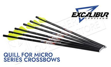 "Excalibur Quill Arrows for Micro Series Crossbows, 16.5"" Pack of 6 #22QV166?>"