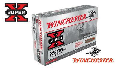 Winchester 25-06 Rem Super X, JSP 120 Grain Box of 20 #X25062?>