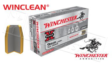 Winchester 9mm Winclean, TFMJ 124 Grain Box of 50 #WC92?>