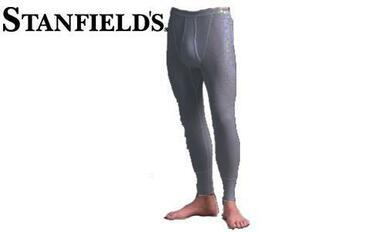 Stanfield's Thermal Long Johns, Waffle Knit, Black Mix #6622 572?>