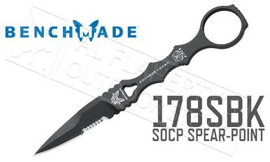 Benchmade 178 SOCP Spear-Point Serrated Knife #178SBK?>