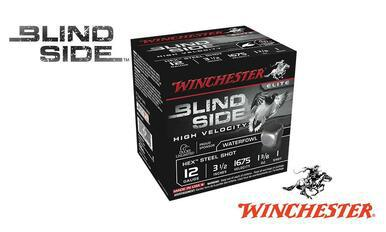 "Winchester Elite Blind Side High Velocity Waterfowl Shells 12 Gauge 3-1/2"" #BB, 1, 2, or 6 Shot, 1-3/8 oz., 1675 FPS, Box of 25 #SBS12LHV?>"
