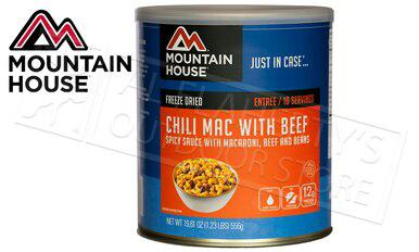 Mountain House Can - Chili Mac with Beef, 10 Servings, 1.23lbs #30128?>