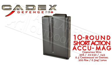 Cadex Defence Short Action AICS Accu-Mag Magazine, .308 10-Round #MAG100-0040?>
