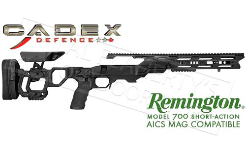 Cadex Defence Field Tactical Chassis for Remington 700 Short Action Using AICS Magazines, 20 MOA Rail #STKFT-REM-RH-SA-B?>