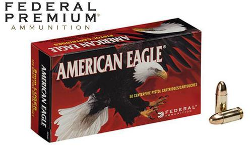 Federal American Eagle 9mm 124 Grain FMJ Box of 50 or $279.00 Case of 1000?>