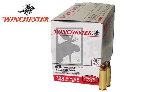 Winchester .38 Special Value Pack, FMJ 130 Grain, Box of 100 #USA38SPVP?>