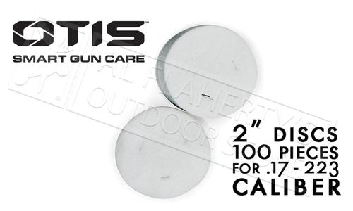 "Otis 2"" Cleaning Patches for 17 to 223 Caliber, Pack of 100 #FG-918-100?>"