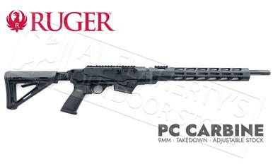"Ruger PC Carbine 6-Position Stock, Handguard Non-Restricted, 9mm 18.6"" Barrel #19125?>"
