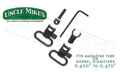 "Uncle Mike's QD Super Swivel Kit with Magnum Band for Magazine Tubes .420""-.470"" Diameter #10712?>"