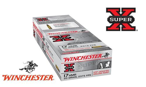 Winchester 17HMR Super-X XTP, JHP 20 Grain Box of 50 #X17HMR1?>