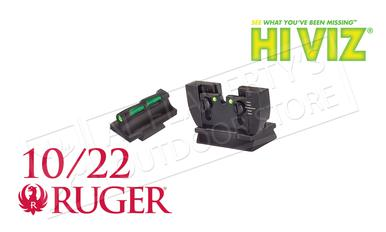 HiViz Ruger 10/22 Fiber Optic Rifle Sight Set #RG1022?>