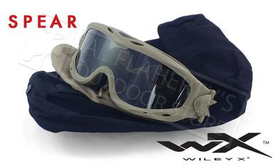 Wiley X Spear Ballistic Goggles with Grey and Clear Lens Combo #SP29T?>