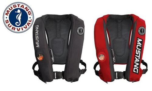 Mustang Elite Inflatable PFD (Automatic), Black or Red, Universal?>