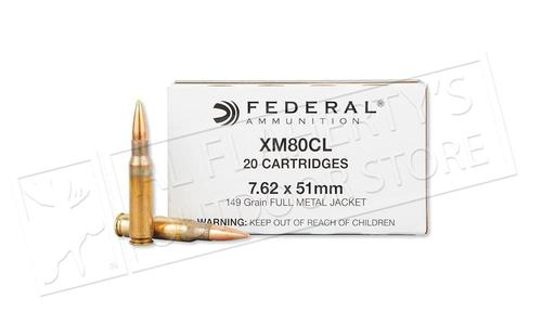 Federal .308 WIN (7.62x51) XM80CL, FMJ 149 Grain Box of 20 #XM80CL?>