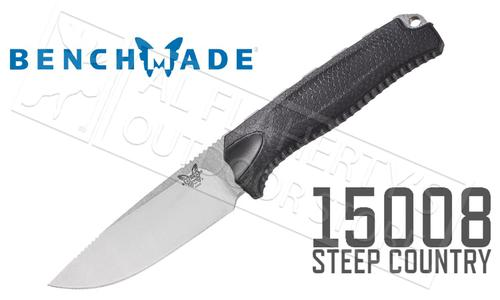 Benchmade Steep Country Hunting Knife, Black #15008-BLK?>