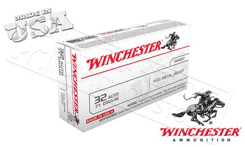 Winchester 32 Auto White Box, FMJ 71 Grain Box of 50 #Q4255?>