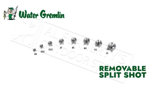 Water Gremlin Removable Split Shot, Zip Lip Packs, Sizes BB to 2 #PSS?>