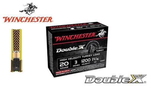 "Winchester Double X High Velocity Turkey Shells 20 Gauge 3"", 1-5/16 oz. #4 & 5 Shot, 1200 FPS, Box of 10 #STH203x?>"