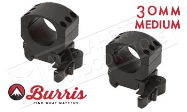 Burris XTR Xtreme Tactical Scope Rings, Quick Detach, Medium, 30mm #420157?>