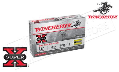 "Winchester Super X Sabot Slugs 12 Gauge 2-3/4"", 1 oz., 1350 fps, Box of 5 #XRS12?>"