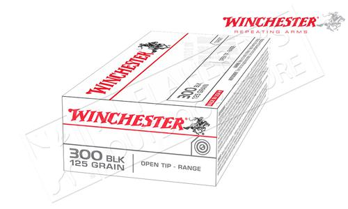Winchester 300 Blackout White Box, FMJ 125 Grain Box of 20 #USA300BLK?>