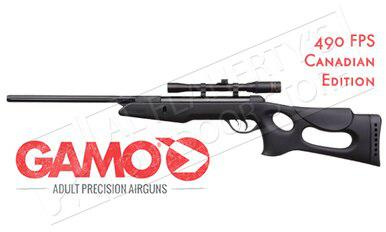 Gamo Recon Air Rifle with 4x20mm Scope, .177 Caliber Pellet 490fps #6110025?>
