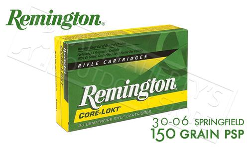 Remington 30-06 SPRG Core-Lokt, Pointed Soft Point 150 Grain Box of 20 #R30062?>