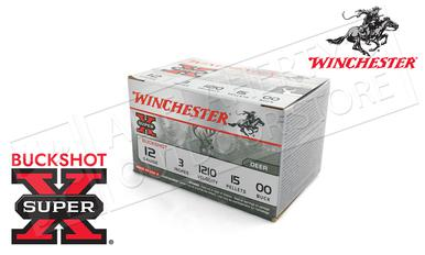 "Winchester Super-X Value Pack Buckshot for Deer 12 Gauge 3"", 00-Buck 15 Pellet Box of 15 #XB12300VP?>"