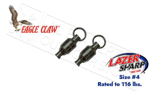 Eagle Claw Lazer Ball Bearing Swivels with Steel Rings, Size 4 - 116lbs, Pack of 2 #11082-004?>