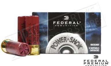 "Federal Power-Shok Low Recoil Shells 12 Gauge 2-3/4"" 00 Buckshot 9 Pellets Box of 5 #H13200?>"