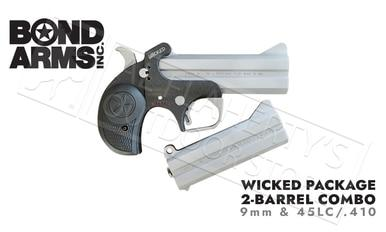 Bond Arms Wicked Derringer 9mm Pistol 2-Shot Package with 45/410 Conversion #BAJW-PACKAGE?>