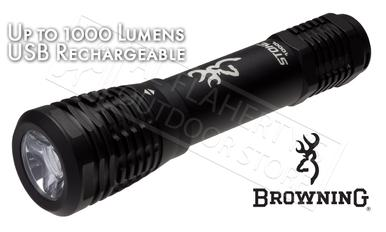 Browning Stoke Flashlight - USB Rechargeable, Up to 1000 Lumens #3713415?>