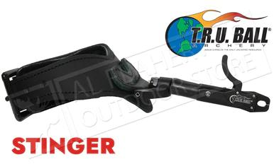 T.R.U. Ball Archery Stinger Caliper Release, Rated to 100lbs, Black with Super Stinger Buckle #TSBR-BK?>