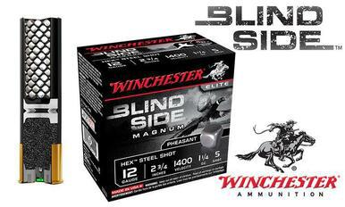 "Winchester Blind Side Shells 12 Gauge 2-3/4"" Shot, Boxes of 25 #SBSPH12?>"