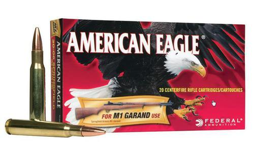 Federal American Eagle 30-06 SPRG M1 Garand, FMJ 150 Grain Box of 20 #AE3006M1?>