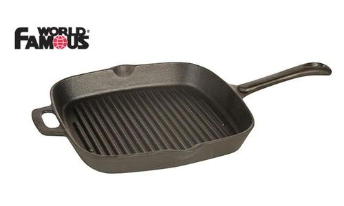 "World Famous Cast Grill Pan, 9"" #1347?>"