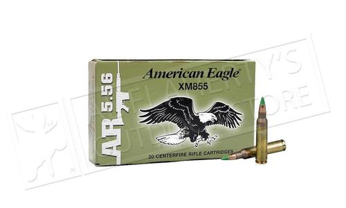 Federal American Eagle 5.56x45mm XM855 FMJ-BT 62 Grain Box of 20 or $259.99  for 500 Rounds (Bulk pricing available) #XM855FL?>