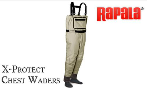 Rapala ProWear X-Protect Chest Waders, Medium to Extra-Large #XPCW?>